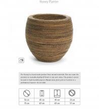 Honey Planter, Χειροποίητη γλάστρα από Ίνες κοκοφοίνικα