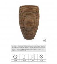 Honey Vase, Χειροποίητη γλάστρα από Ίνες κοκοφοίνικα