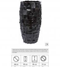Ocean Vase, Χειροποίητη γλάστρα με επίστρωση από φυσικά κοχύλια