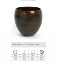 Wood Design Planter, Γλάστρα στρογγυλή από Φυσικό ξύλο